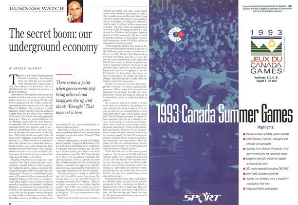 Article Preview: The secret boom: our underground economy, August 1993   Maclean's