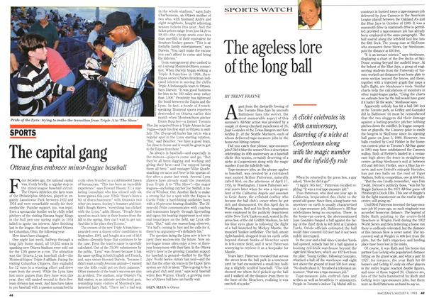Article Preview: The ageless lore of the long ball, August 1993 | Maclean's