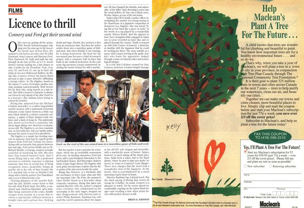 Article Preview: Licence to thrill, August 1993 | Maclean's