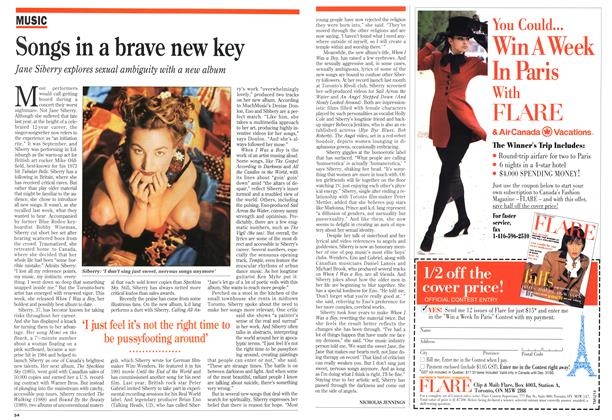 Article Preview: Songs in a brave new key, August 1993 | Maclean's