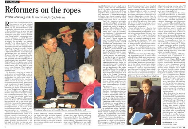 Article Preview: Reformers on the ropes, August 1993 | Maclean's