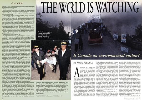 Article Preview: THE WORLD IS WATCHING, August 1993 | Maclean's