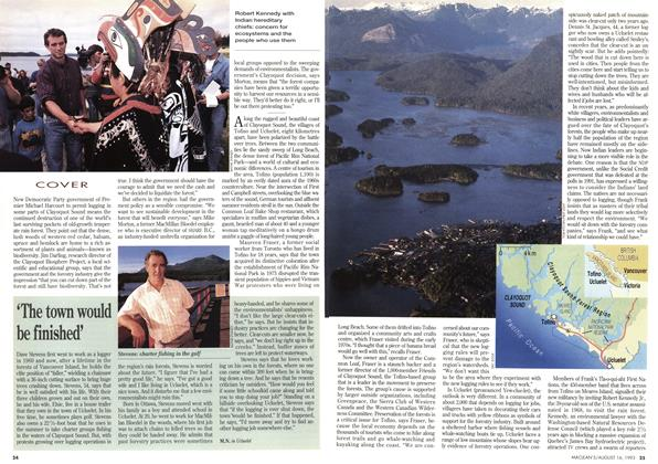Article Preview: 'The town would be finished', August 1993 | Maclean's