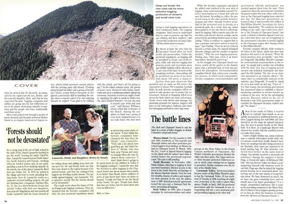 Article Preview: The battle lines, August 1993 | Maclean's