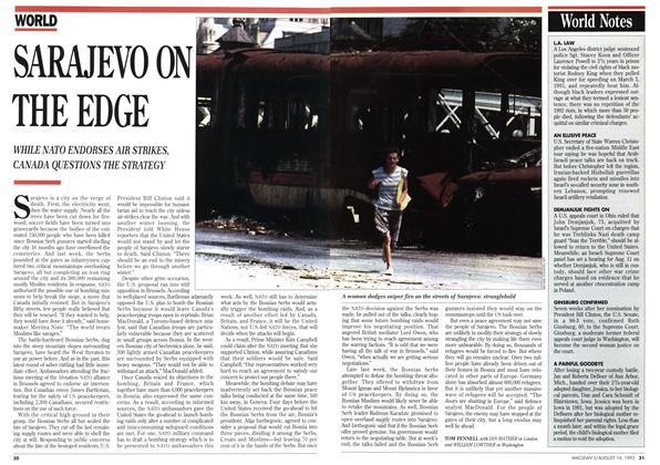 Article Preview: SARAJEVO ON THE EDGE, August 1993 | Maclean's
