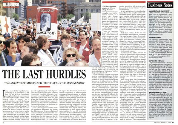 Article Preview: THE LAST HURDLES, August 1993 | Maclean's