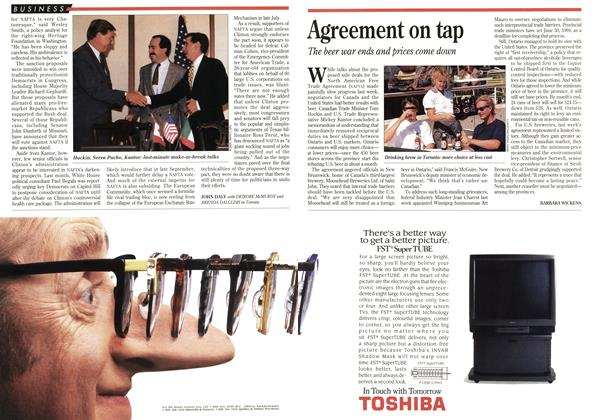 Article Preview: Agreement on tap, August 1993 | Maclean's
