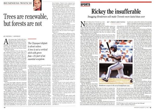 Article Preview: Rickey the insufferable, August 1993 | Maclean's