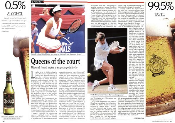 Article Preview: Queens of the court, August 1993 | Maclean's