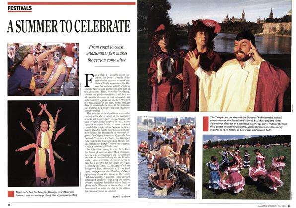 Article Preview: ASUMMERTO CELEBRATE, August 1993 | Maclean's