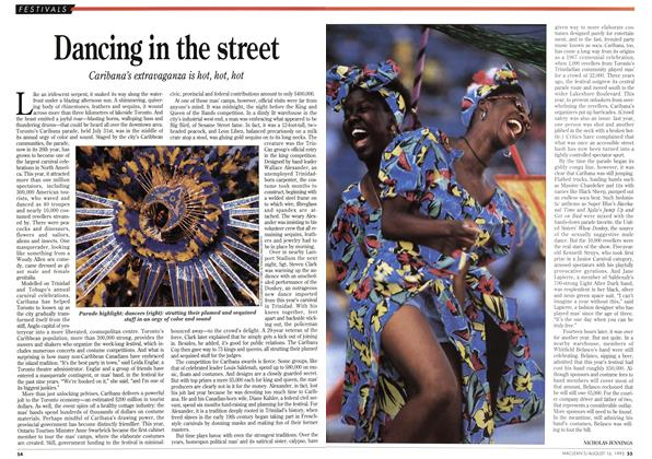 Article Preview: Dancing in the street, August 1993 | Maclean's