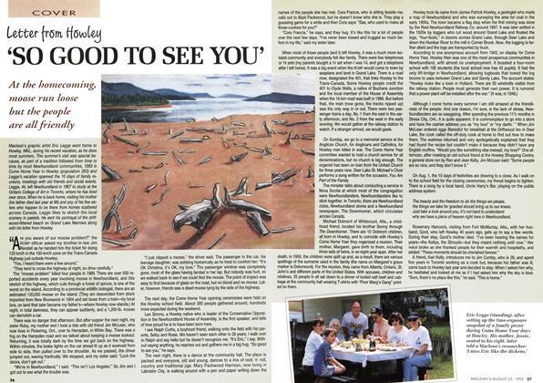 Article Preview: 'SO GOOD TO SEE YOU', August 1993 | Maclean's