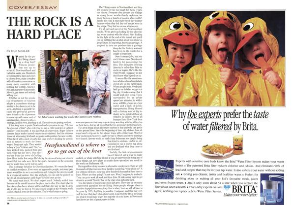Article Preview: THE ROCK IS A HARD PLACE, August 1993 | Maclean's