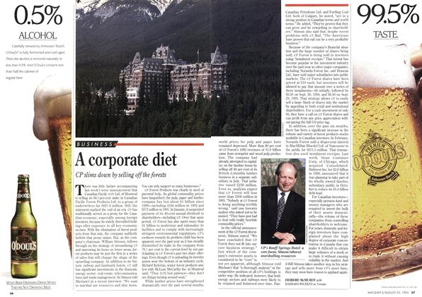 Article Preview: A corporate diet, August 1993 | Maclean's