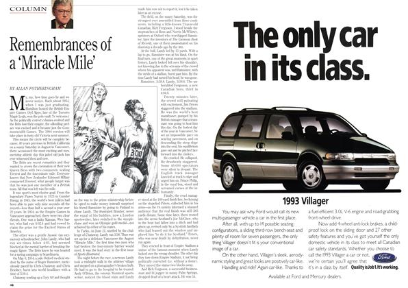 Article Preview: Remembrances of a 'Miracle Mile', August 1993 | Maclean's