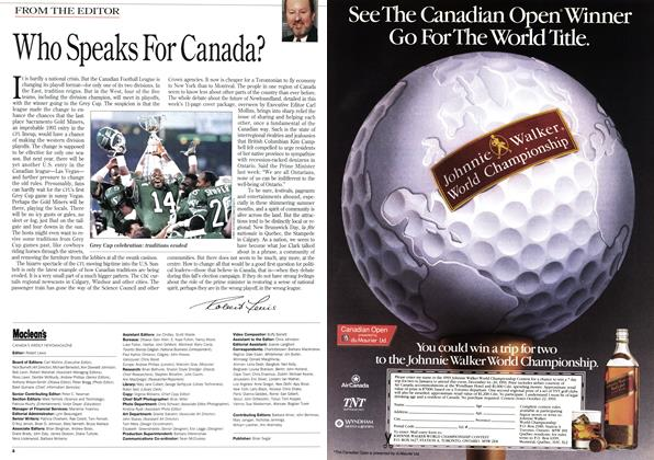 Article Preview: Who Speaks For Canada?, August 1993   Maclean's