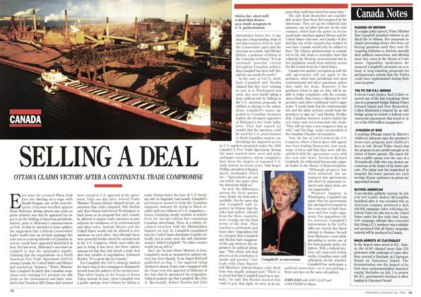 Article Preview: SELLING A DEAL, August 1993 | Maclean's