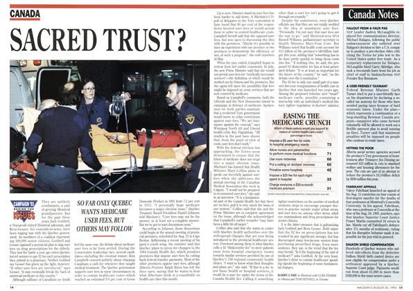 Article Preview: SACRED TRUST ?, August 1993 | Maclean's