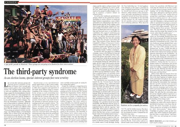 Article Preview: The third-party syndrome, August 1993 | Maclean's