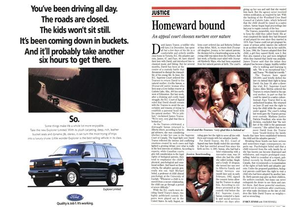 Article Preview: Homeward bound, August 1993 | Maclean's