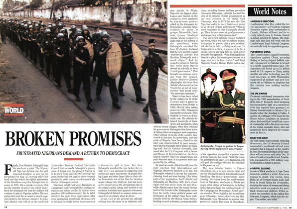 Article Preview: BROKEN PROMISES, September 1993 | Maclean's