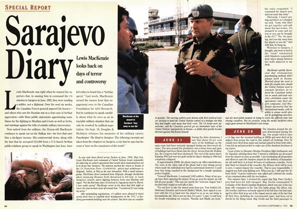Article Preview: Sarajevo Diary, September 1993 | Maclean's