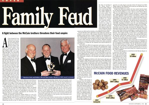 Article Preview: Family Feud, September 1993 | Maclean's