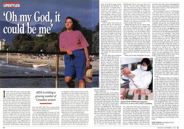 Article Preview: 'Oh my God, it could be me', September 1993 | Maclean's