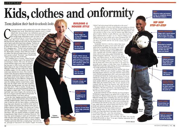Article Preview: Kids, clothes and onformity, September 1993 | Maclean's