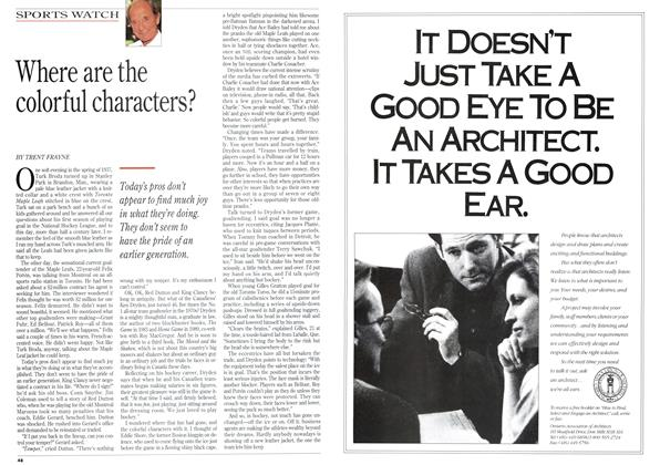 Article Preview: Where are the colorful characters?, September 1993 | Maclean's