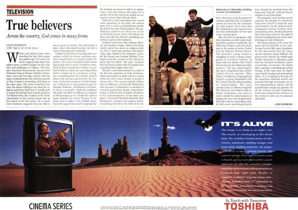 Article Preview: True believers, September 1993 | Maclean's