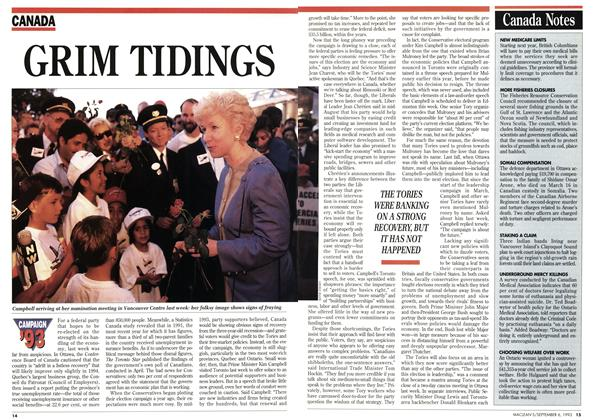 Article Preview: GRIM TIDINGS, September 1993 | Maclean's