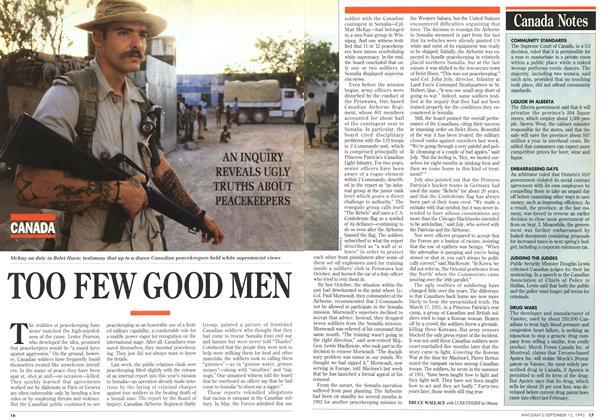 Article Preview: TOO FEW GOOD MEN, September 1993 | Maclean's