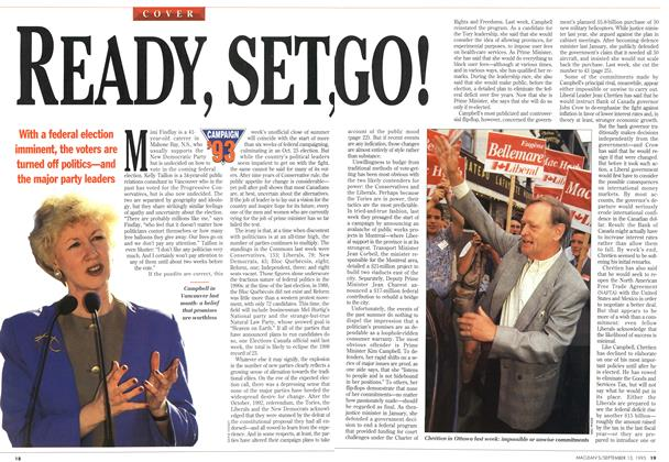 Article Preview: READY, SET, GO!, September 1993 | Maclean's