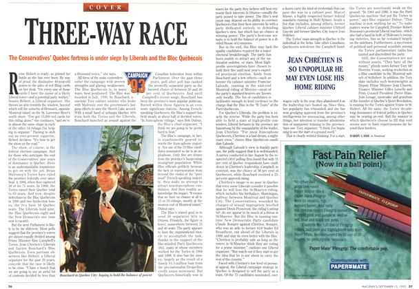 Article Preview: THREE-WAY RACE, September 1993 | Maclean's