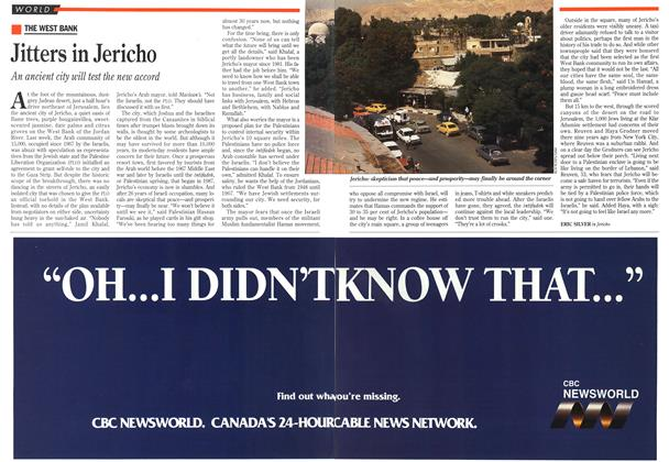 Article Preview: Jitters in Jericho, September 1993   Maclean's