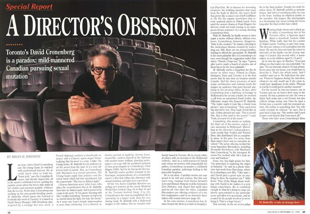 Article Preview: A DIRECTOR'S OBSESSION, September 1993 | Maclean's