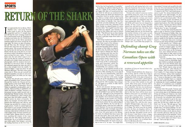 Article Preview: RETUEN OF THE SHARK, September 1993 | Maclean's
