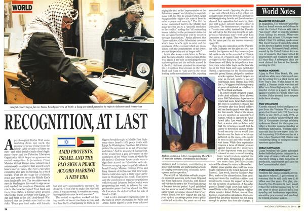 Article Preview: RECOGNITION,AT LAST, September 1993 | Maclean's