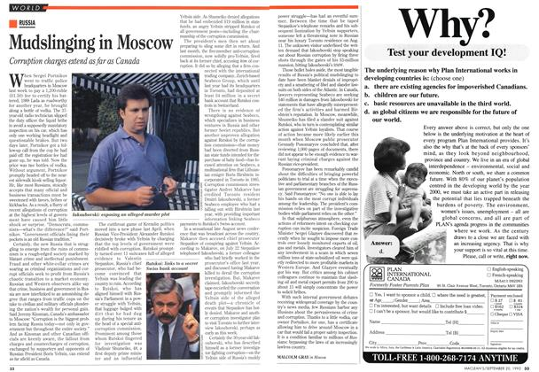 Article Preview: Mudslinging in Moscow, September 1993 | Maclean's