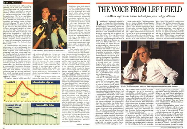 Article Preview: THE VOICE FROM LEFT FIELD, September 1993 | Maclean's