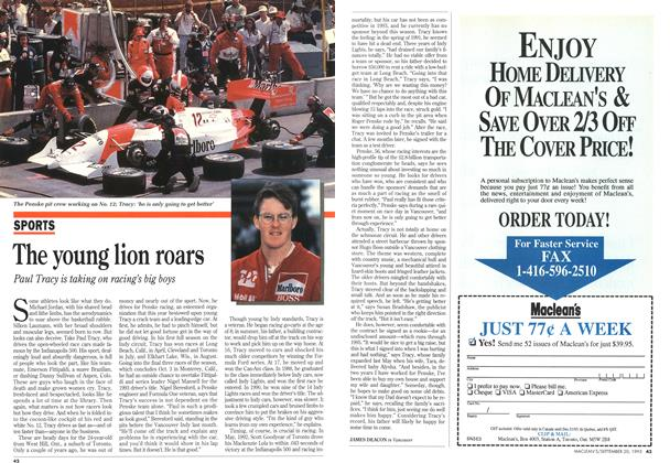 Article Preview: The young lion roars, September 1993   Maclean's