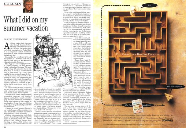 Article Preview: What I did on my summer vacation, September 1993 | Maclean's