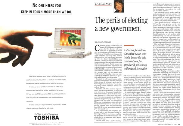 Article Preview: The perils of electing a new government, September 1993 | Maclean's