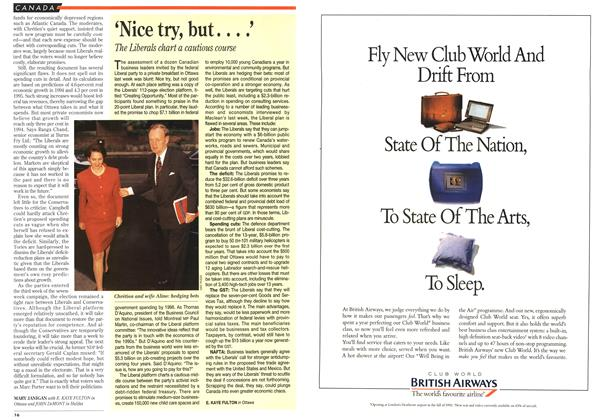 Article Preview: 'Nice try, but....', September 1993 | Maclean's