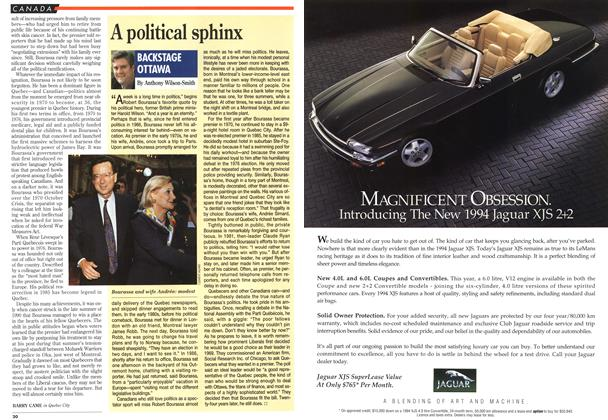 Article Preview: A political sphinx, September 1993 | Maclean's