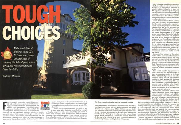 Article Preview: TOUGH CHOICES, September 1993 | Maclean's