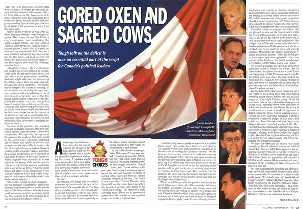 Article Preview: GORED OXEN AND SACRED COWS, September 1993 | Maclean's