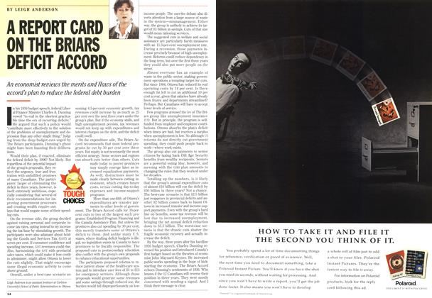 Article Preview: A REPORT CARD ON THE BRIARS DEFICIT ACCORD, September 1993 | Maclean's