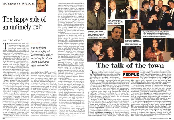 Article Preview: The happy side of an untimely exit, September 1993 | Maclean's